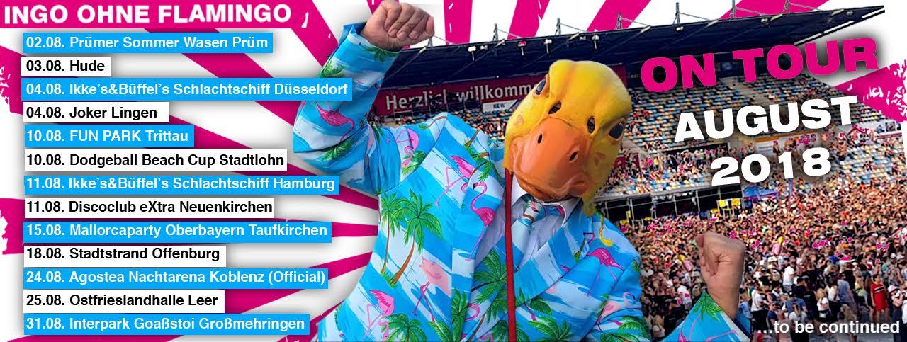 Ingo ohne Flamingo Tourtermine August