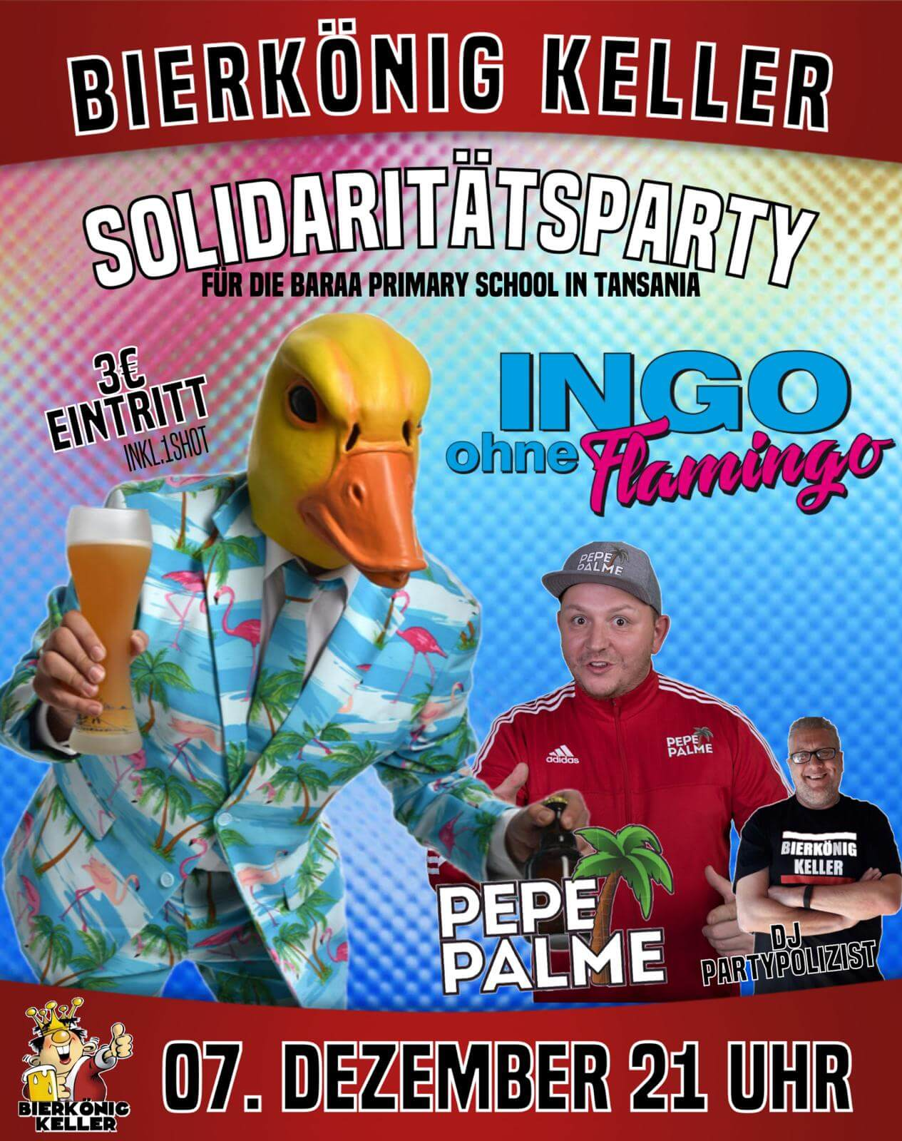 Solidaritätsparty Ingo ohne Flamingo